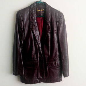 Etienne Aigner Vintage 1990s Genuine Leather Coat